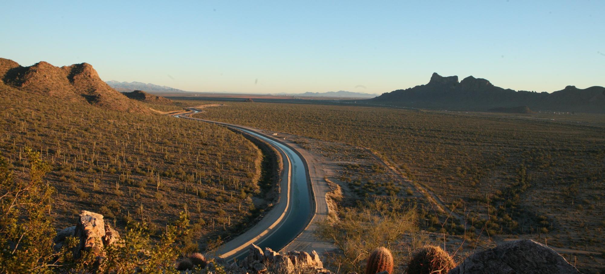 Desert Landscape and River Photo